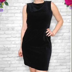 Vintage Esprit velvet black dress